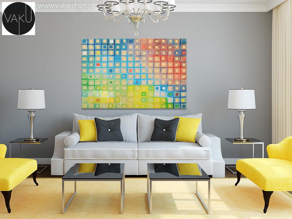 obraz abstrakcja kolorowy