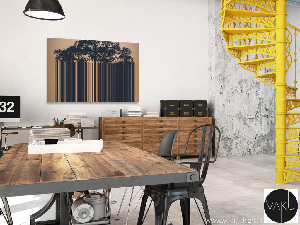 salon - styl industrialny