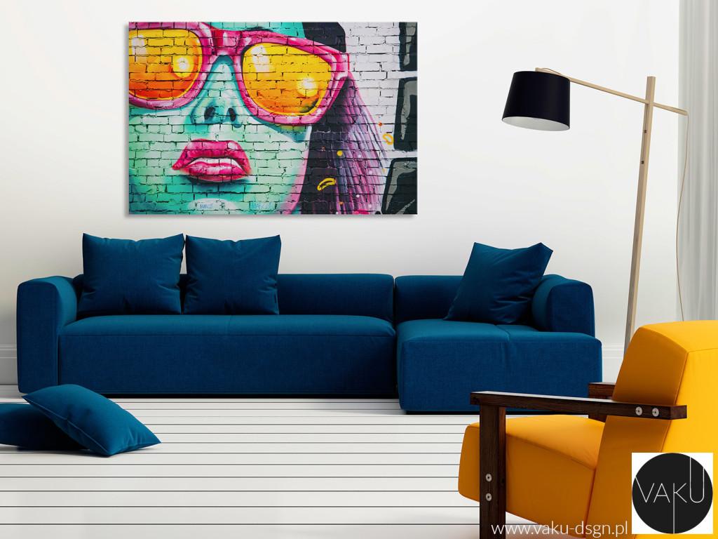 Graffiti kobieta okulary