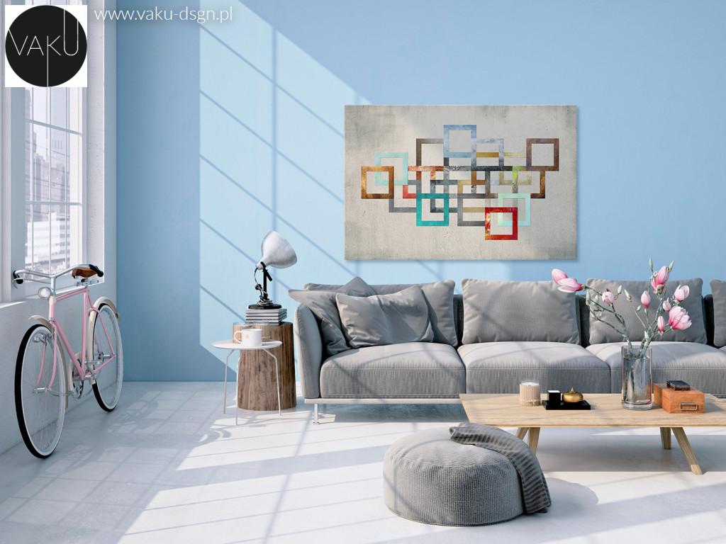 salon błękitny pastele