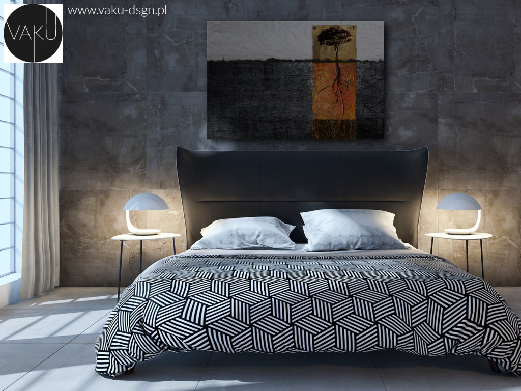 Kamień dekoracyjny sypialnia