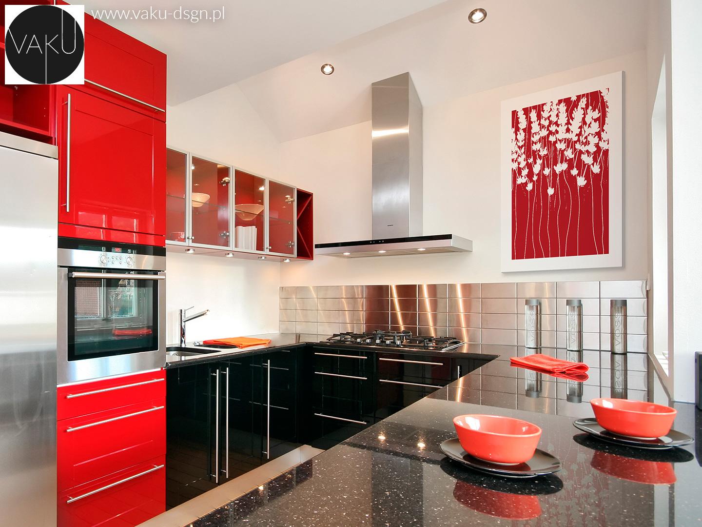 lustrzane kafelki w kuchni