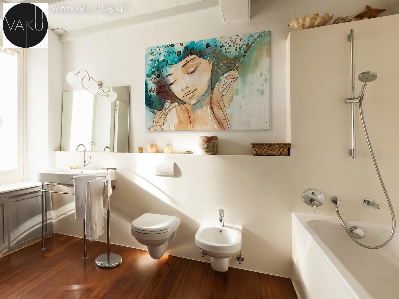 lustro stojące w łazience