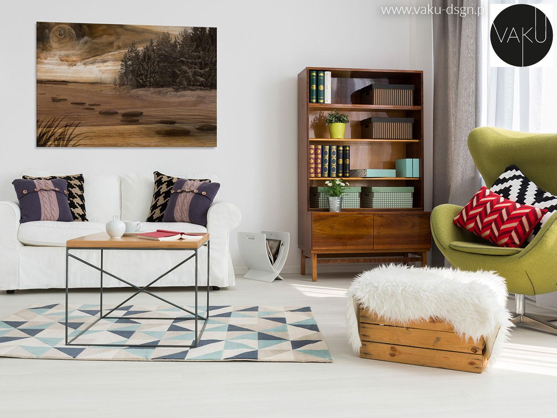 poduszki we wzory w salonie