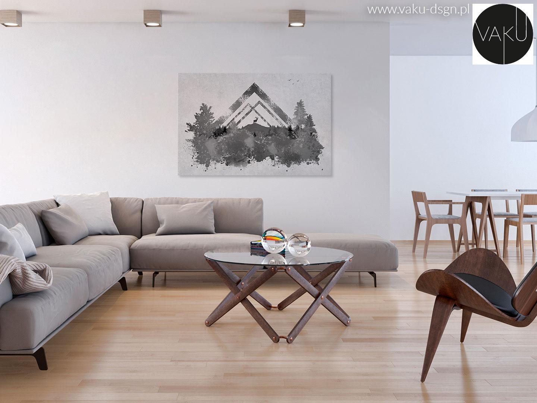 Salon w stylu duńskim