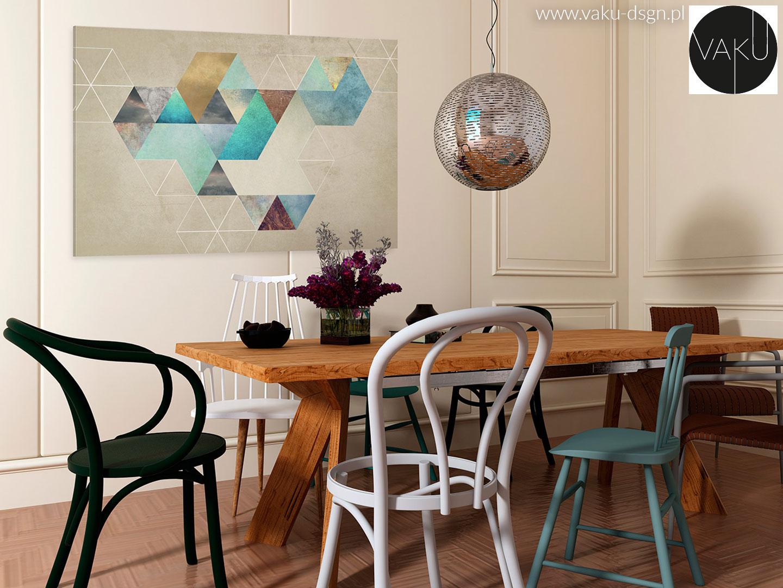 nowoczesny obraz z motywem geometrycznym