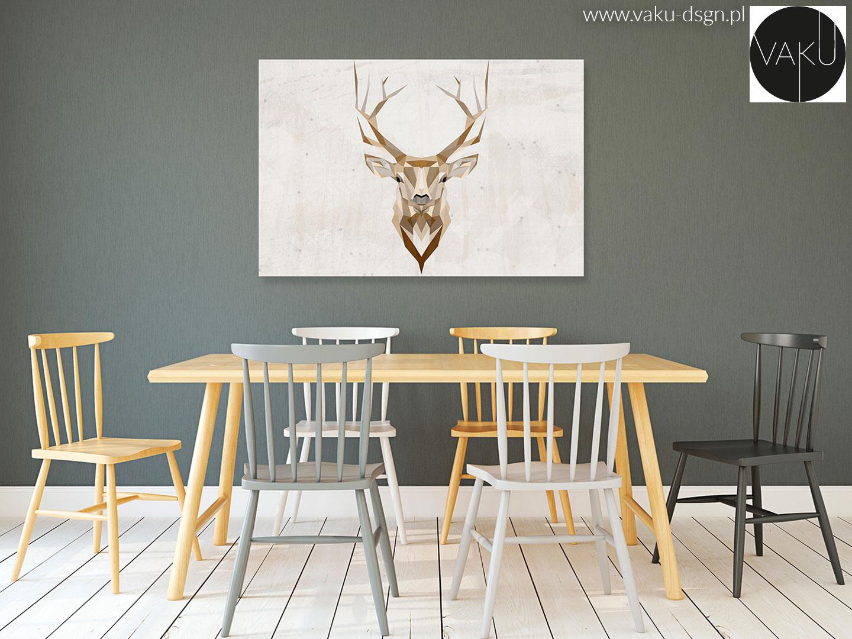 obraz z motywem jelenia