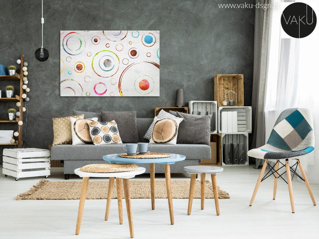 półki i stolik z palet