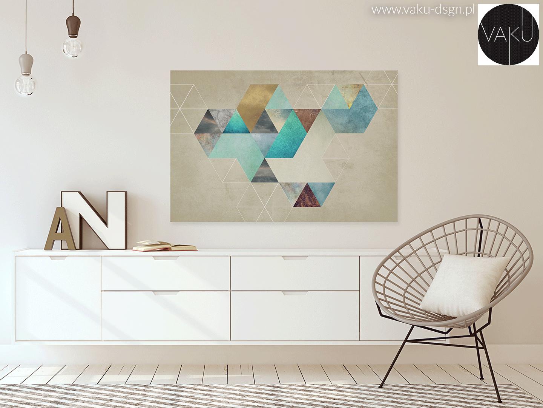 obraz z motywem heksagonalnym
