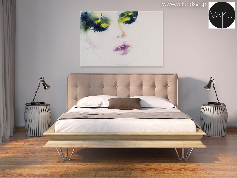 sypialnia - styl nowojorski