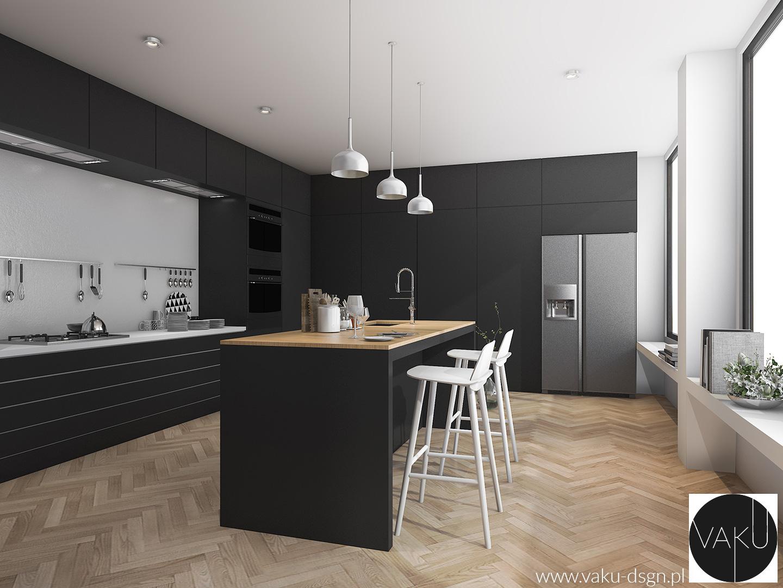 nowoczesna kuchnia w czerni