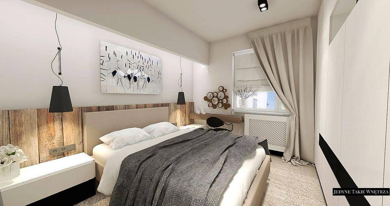 projekt sypialni - Jedyne Takie Wnętrza