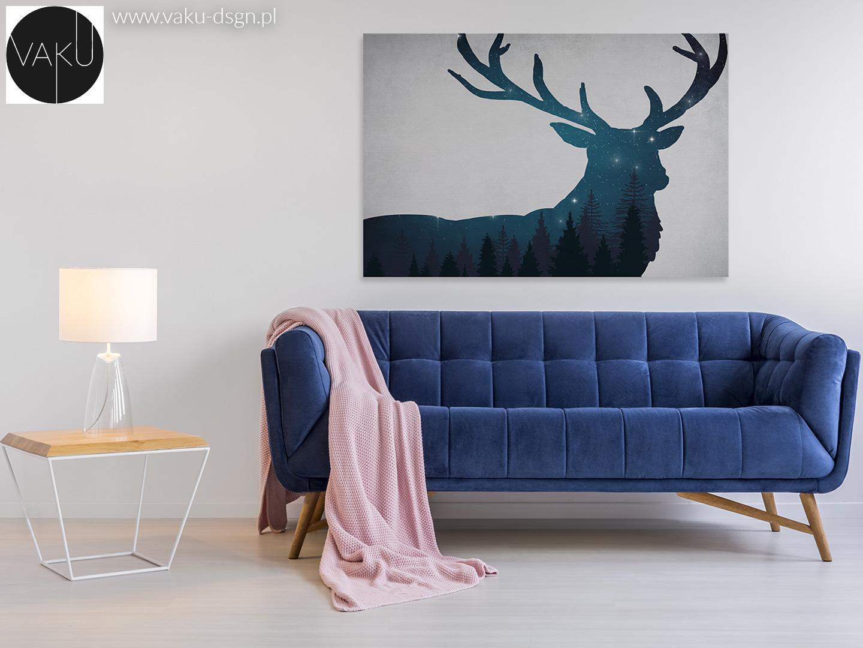 sofa w kolorze indygo