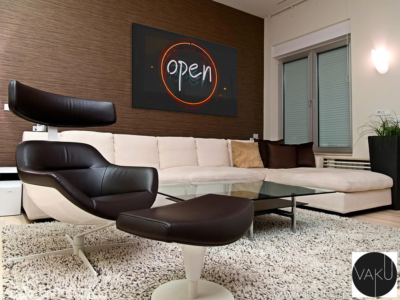 obraz z motywem neonu do salonu