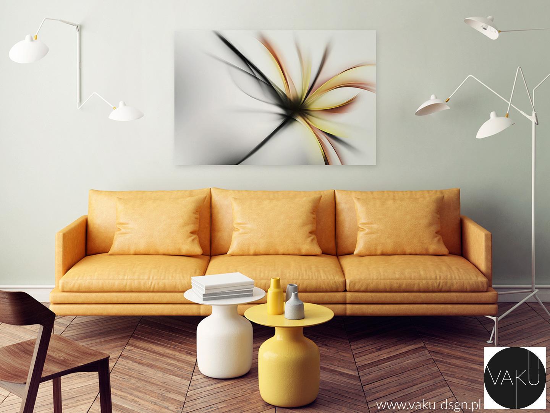 skórzana sofa w kolorze musztardowym