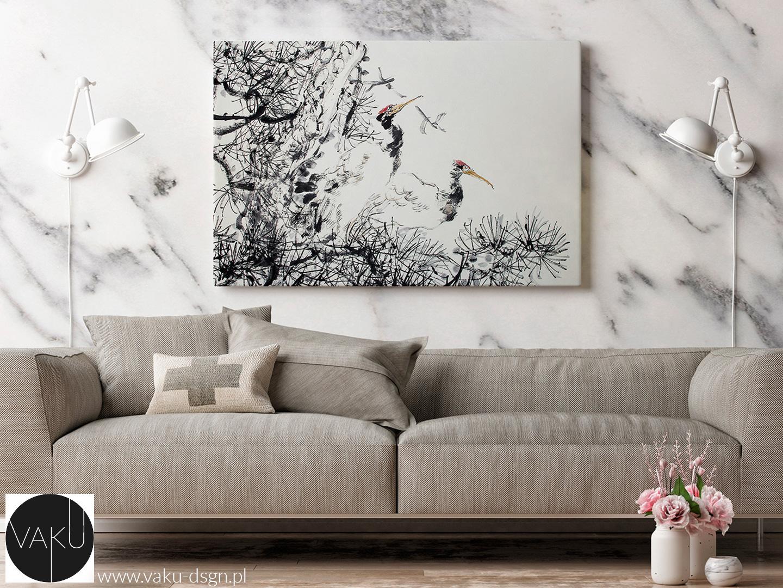 marmurowa ściana w salonie