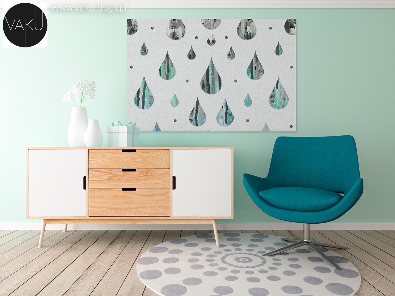 turkusowy marmur w salonie