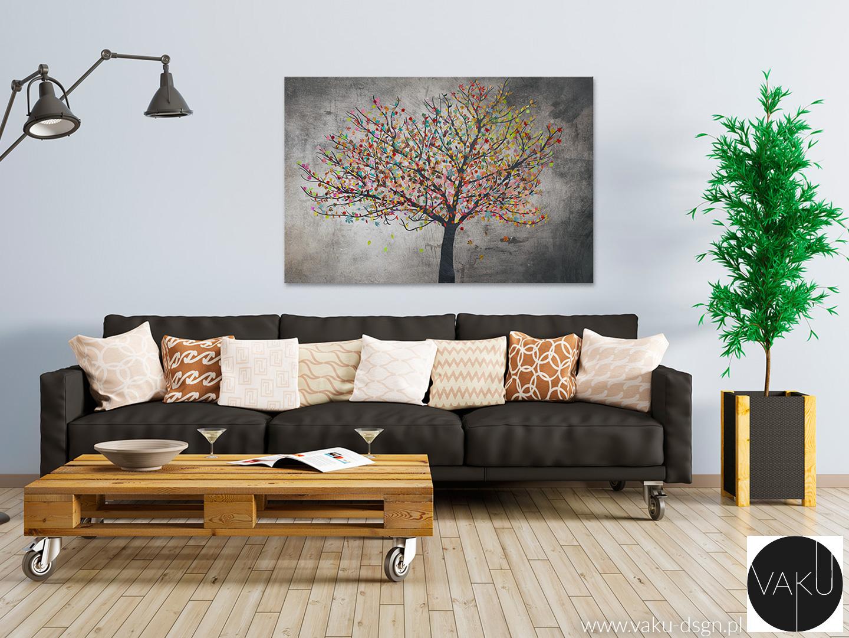 drzewo z kolorowymi liścmi