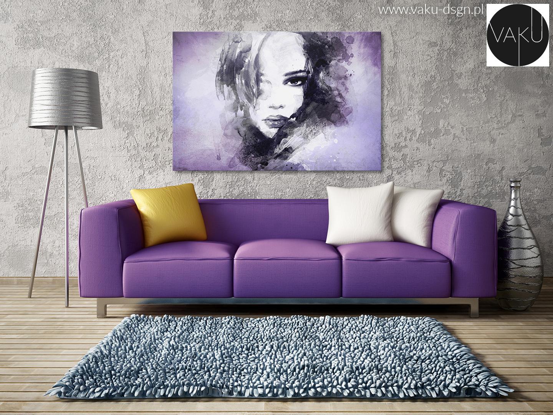 portret we fiolecie