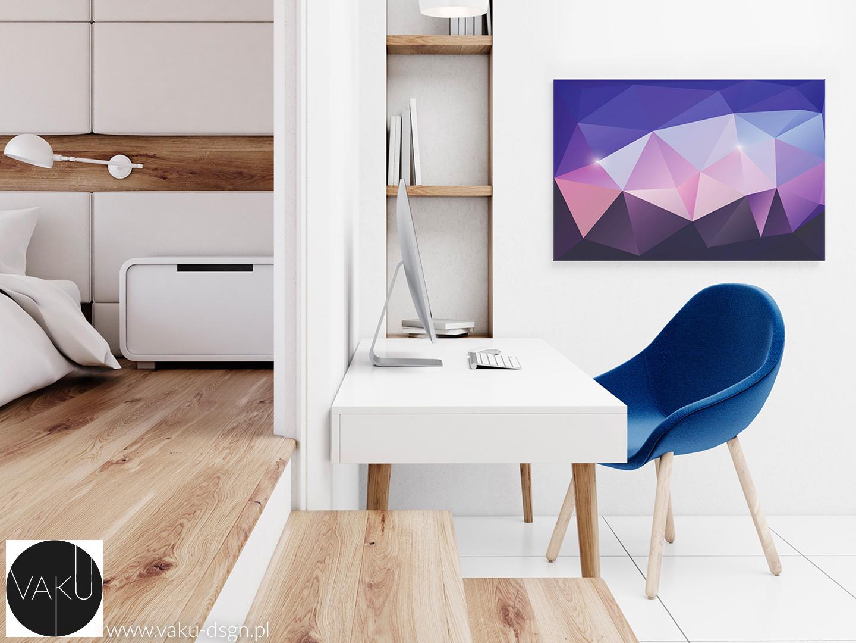 obraz abstrakcyjny we fiolecie