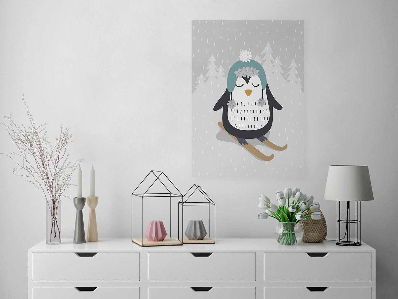 obraz z pingwinem