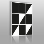 geometryczny obraz w stylu Bauhaus w czerni i bieli
