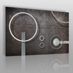 industrialny wzór do wnętrz w stylu Bauhaus