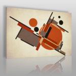 obraz w stylu Bauhaus w kolorze pomarańczowym
