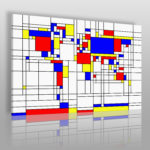 mapa w stylu Bauhaus