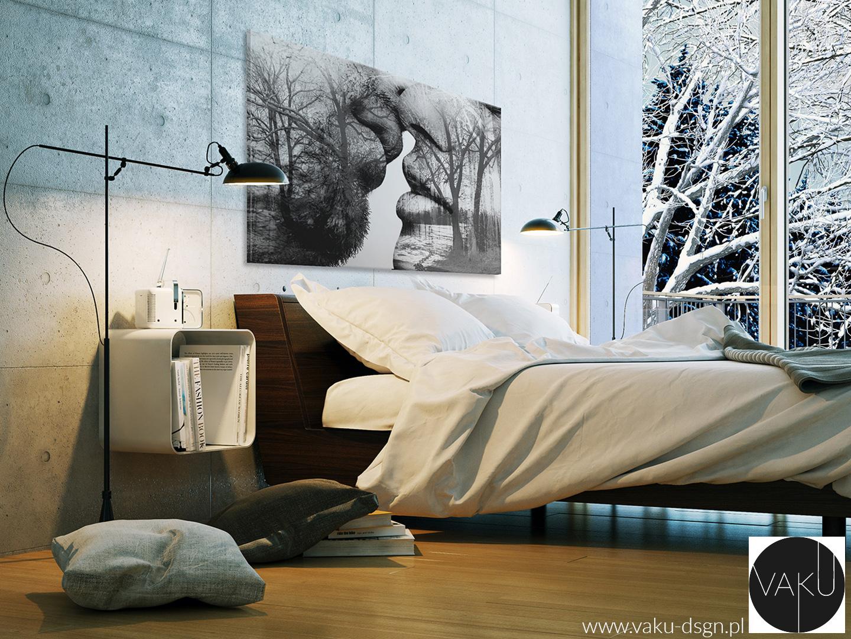 beton w sypialni