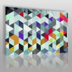 trójkąty w kolorze szałwii
