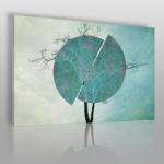 obraz z drzewem w kolorze szałwiowym