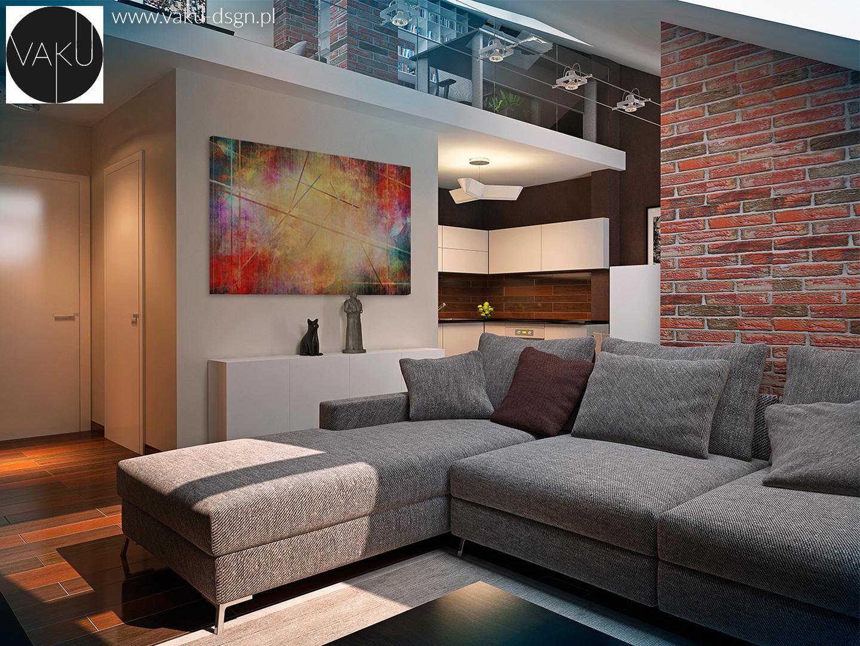 salon z wysokimi ścianami