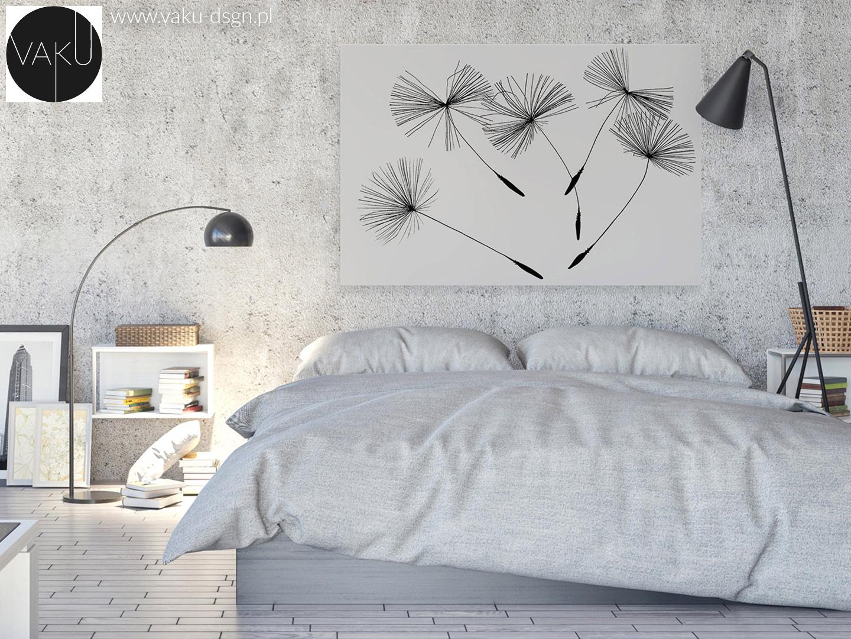 fotoobraz z dmuchawcem w stylu minimalistycznym